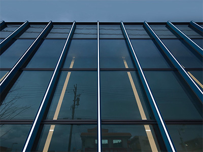 ALBEAM Curtain Wall 施工例 その1
